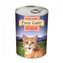FORTE GATTO BOCCONCINI CON SALMONE  PER GATTO da 405 gr