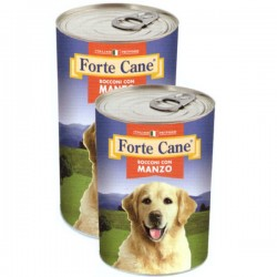 FORTE CANE BOCCONI CON MANZO PER CANE da 1250 gr