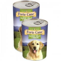 Forte Cane Bocconi Con Manzo, Pollo e Verdure Cibo Umido Per Cane da 1250 gr