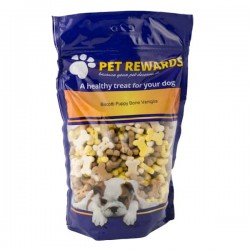 PET REWARDS BISCOTTI PUPPY BONES VANIGLIA CALCIO & CACAO per CANE da 400 gr