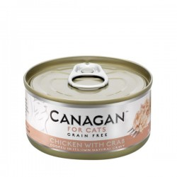 CANAGAN FOR CATS Cibo umido per GATTI grain-free da 75 gr - CHICKEN WITH CRAB