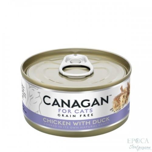 CANAGAN FOR CATS Cibo umido per GATTI grain-free da 75 gr - CHICKEN WITH DUCK