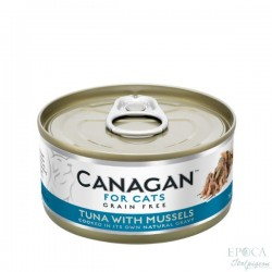 CANAGAN FOR CATS Cibo umido per GATTI grain-free da 75 gr - TUNA WITH MUSSELS