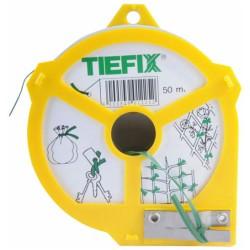 TIEFIX Piattina animata con filo metallico ricoperto in pvc colore verde da 50 metri