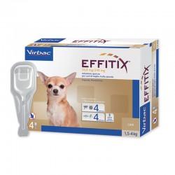 EFFITIX Antiparassitario esterno per Cani 1,5/4 kg SPOT-ON da 4 pz