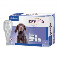 EFFITIX MEDIUM Antiparassitario esterno per Cani 10/20 kg SPOT-ON da 4 pz