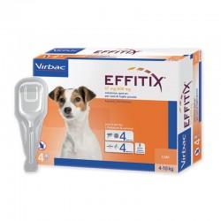 EFFITIX Antiparassitario esterno per Cani 4/10 kg SPOT-ON da 4 pz