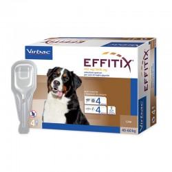EFFITIX Antiparassitario esterno per Cani 40/60 kg SPOT-ON da 4 pz