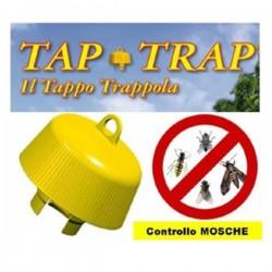 TAP TRAP - TAPPO TRAPPOLA PER LA CATTURA DI INSETTI VOLANTI conf. da 5 pz