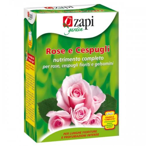 Zapi Garden - Rose e cespugli nutrimento granulare completo da 1 kg per Rose, Cespugli fioriti e Gelsomini