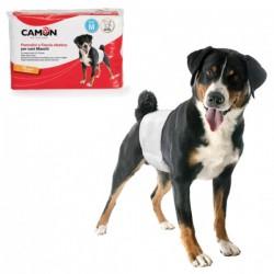 CAMON Pannolini a fascia elastica per cani maschi Tg. M 46/60 cm - 12pz