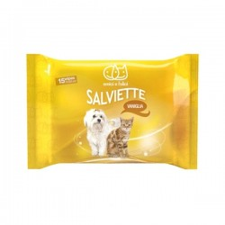 AMICI E FELICI Salviette pocket alla vaniglia per Cane e Gatto 17x20cm 15pz