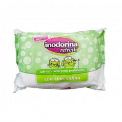 Inodorina Refresh da 40 salviette per CANI e GATTI con Clorexidina