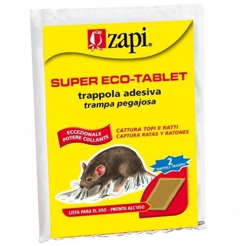 Zapi Super Eco-Tablet Trappola per totpi adesiva pronta all'uso 20x30cm 2pz