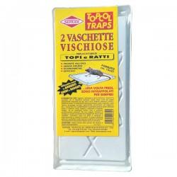 SEPRAN TOPCOL TRAPS 2 Vaschette vischiose per la cattura di Topi e Ratti 13x25cm