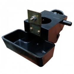 Abbeveratoio automatico a vaschetta in bachelite con foro porta bottiglia da 12 cm