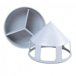 Grit-pot  / porta grit e sali con divisorio per Colombi 20,5x22,7 cm