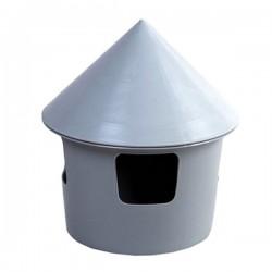 Ufo abbeveratoio / mangiatoia con cappello da 2 litri per Colombi