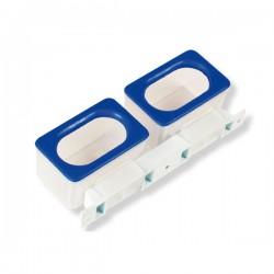 Mangiatoietta doppia anti spreco (vedovi) per poste per Colombi 5,3x17,6x4,8 cm