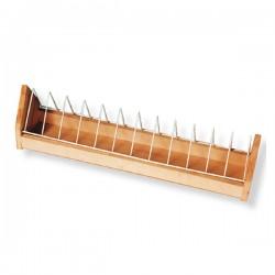 Mangiatoia aperta in legno griglia per Colombi da 100 cm