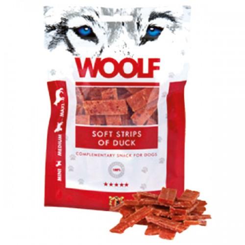 WOOLF STRISCE MORBIDE DI ANATRA Snack per Cani Monoproteico da 100gr