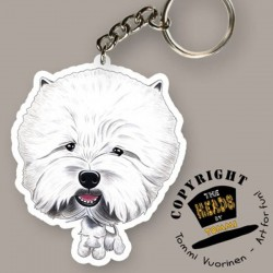 Portachiavi Dog caricature West Highland White Terrier by Tommi Vuorinen