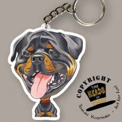 Portachiavi Dog caricature Rottweiler by Tommi Vuorinen