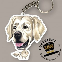 Portachiavi Dog caricature Golden Retriever by Tommi Vuorinen