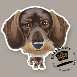 Magnete Dog caricature Wire-haired Dachshund by Tommi Vuorinen
