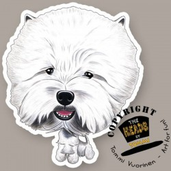 Magnete Dog caricature West Highland White Terrier by Tommi Vuorinen