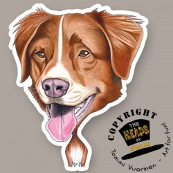 Magnete Dog caricature Nova Scotia Duck Tolling Retriever by Tommi Vuorinen
