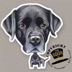 Magnete Dog caricature Labrador Retriever Terrier by Tommi Vuorinen