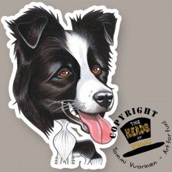 Magnete Dog caricature Border Collie by Tommi Vuorinen