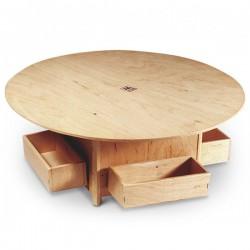 Tavolino per abbeveratoio con 4 mangiatoie per Colombi 48x48x20h cm