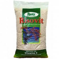 RUSTY RISOVIT Riso Soffiato da 5 kg alimento complementare per animali da compagnia