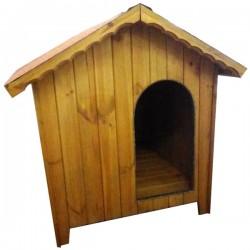 Cuccia per cane da esterno in legno 73x107x106h cm Pluto