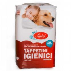 PET LIABEL 10 Tappetini Igienici per Cane 60x90 cm super assorbenti