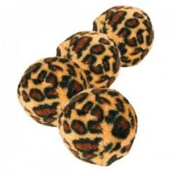 TRIXIE 4 Palline Animalier per Gatto con Sonaglio, ø 4 cm