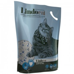 LINDOCAT CRISTAL Neutra Lettiera Igienica per Gatto da 5 litri a base di cristalli di gel in silice