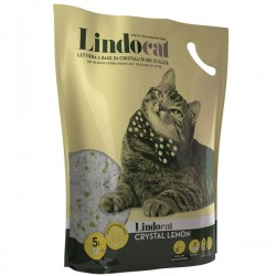 LINDOCAT CRISTAL Lemon Lettiera Igienica per Gatto da 5 litri a base di cristalli di gel in silice