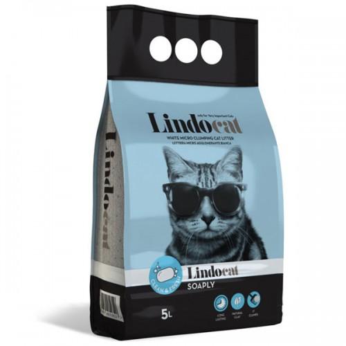 LINDOCAT SOAPLY Lettiera Micro Agglomerante Bianca per Gatto da 5 litri bentonite