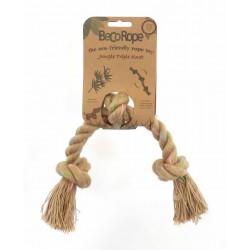 BECOROPE Gioco per Cane Corda Naturale Tre Nodi, Medium 33 cm