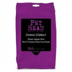 PET HEAD Salviette pocket alla Mela Verde e Kiwi per Cane e Gatto 20x16cm 25pz