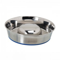 CAMON Ciotola per Cucciolata in acciaio INOX con antiscivolo Ø 29 cm 2,6 l