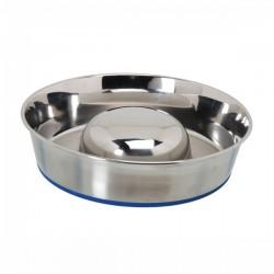 CAMON Ciotola per Cucciolata in acciaio INOX con antiscivolo Ø 24 cm 1,7 l