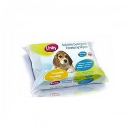 LINKY Salviette Detergenti per Cani Gatti e Cuccioli con Aromi Vari 40pz 30x20 cm