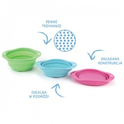 BECOBOWL Ciotola Travel Pieghevole per Cani Medium 18,5 cm 0,75 l