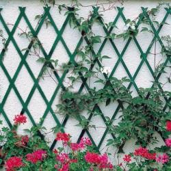Steccato Estensibile in PVC verde 100x100 cm