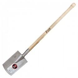 Ideal ECCO Vanghetto in acciaio con manico in legno 190x1430 mm