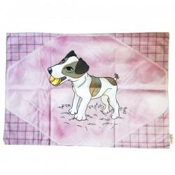 SPILLIDEA Plaid Scozzese Jack Russel Bordeaux-Rosa 70x47 cm
